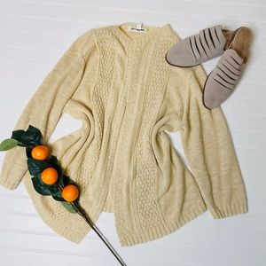 TravelSmith Open Loose Knit Cardigan Sweater